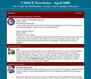 CMSCE April 2008 Newsletter