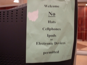 Sign in High School Foyer